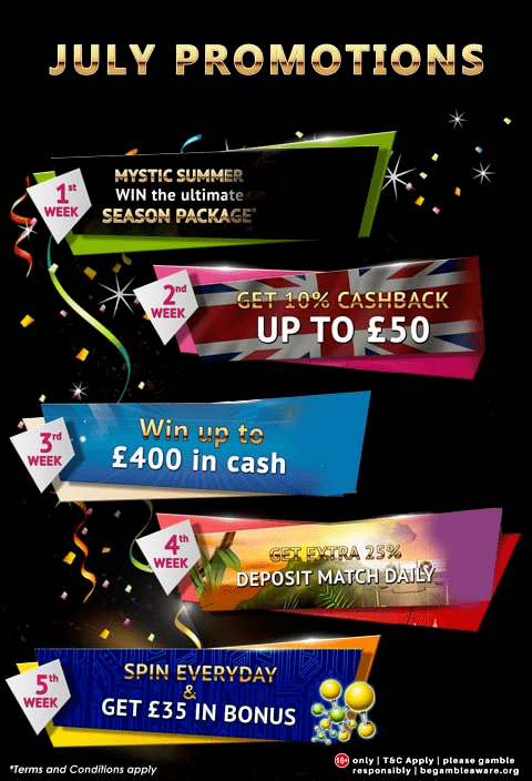 Jackpot Mobile Casino July Promotions